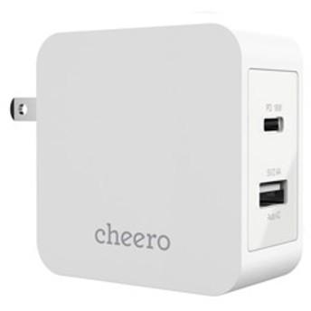 cheero 2 port PD Charger ( PD 18W + USB ) CHE-327-WH