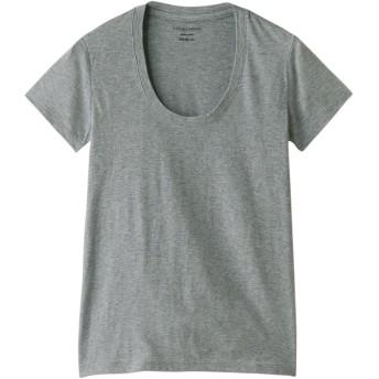 +FOUR CORNERS フォーコーナーズ 半袖Tシャツ(Uネック) TOPグレー