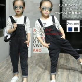 新作 キッズ デニムサロペット ベビー ジュニア オールインワン ボトムス 大きいサイズ 子供服 KIDSオシャレ パンツ 女の子 オーバーオー