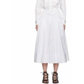スリーワン フィリップ リム 3.1 Phillip Lim レディース スカート White Poplin Corset Skirt