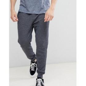ホリスター Hollister メンズ ジョガーパンツ ボトムス・パンツ core icon logo cuffed jogger in washed black marl Black