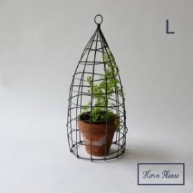 ワイヤー アビーホルダー ストレートシェイプ Lサイズ WIRE Horn Please 志成販売  ガーデニング つる性 植物 園芸 鉢植え ガーデン