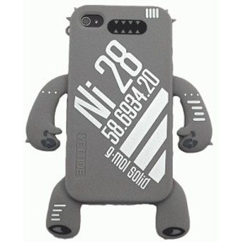 iPhone 4S/iPhone 4 共通 Sillicone/Skin/Ni28/Grey スマートフォンケース スマホケース [▲][G]