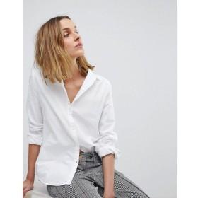 ピーシーズ Pieces レディース ブラウス・シャツ トップス oxford shirt Bright white