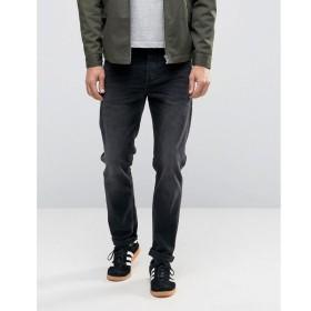 エイソス ASOS メンズ ジーンズ ボトムス ASOS Stretch Slim Jeans In 12.5oz In Washed Black Washed black