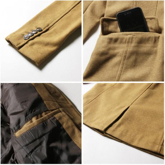ジャケット・ブルゾン - SPUTNICKS 秋冬 イタリアンカラー ジャンパー・ブルゾン アウター メンズファッション メルトン ウール