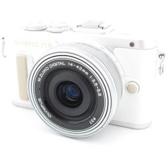 【中古】 【並品】 オリンパス PEN E-PL8 14-42mm EZレンズキット ホワイト