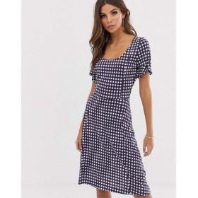 フレンチコネクション French Connection レディース ワンピース ワンピース・ドレス gingham print dress Wht/ utility gingham