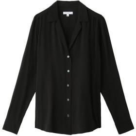 EQUIPMENT エキップモン ADALYN Vカットシルクシャツ ブラック