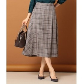 Jプレス Sサイズ(レディス)(J.PRESS LADIES S)/TWチェック スカート