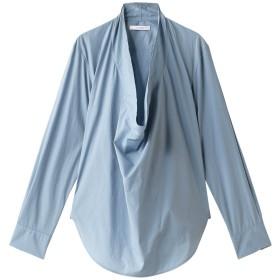 SALE 【50%OFF】 CINOH チノ ドレープカラーシャツ サックス