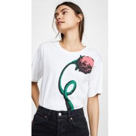 マルニ Marni レディース Tシャツ トップス Flower Tee White