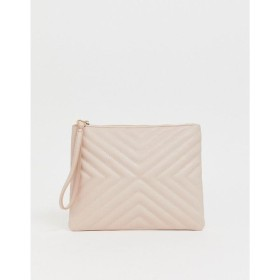 エイソス ASOS DESIGN レディース クラッチバッグ バッグ quilted zip top clutch bag Blush