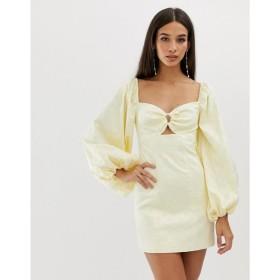 カメオ C/meo Collective レディース ワンピース ワンピース・ドレス C/Meo Collective elate longsleeve mini dress Butter
