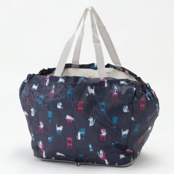 バッグ カバン 鞄 レディース エコバッグ コンパクトになる◎レジかごにつけられる保冷バッグ カラー 「ネイビー」
