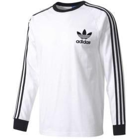 【即納】アディダス メンズ 長袖Tシャツ トップス California Long Sleeve T-Shirt White/Black