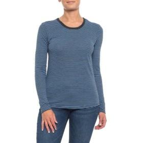 オルタナティヴ Alternative Apparel レディース ブラウス・シャツ トップス Keepsake Shirt - Long Sleeve Antique Blue Overdye Stripe