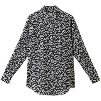 EQUIPMENT エキップモン ESSENTIAL ハートプリントシルクシャツ ブラック