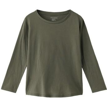 +FOUR CORNERS フォーコーナーズ 9分袖 Tシャツ(ボートネック) カーキ