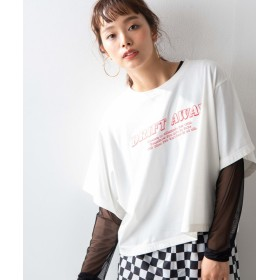 【46%OFF】 ウィゴー WEGO/シースルーセットロゴTシャツ レディース ホワイト F 【WEGO】 【セール開催中】