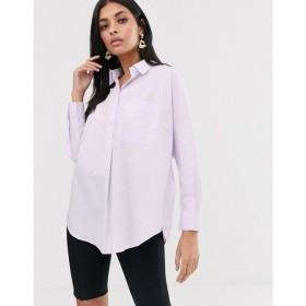 フレンチコネクション French Connection レディース ブラウス・シャツ トップス cotton shirt Lavendar