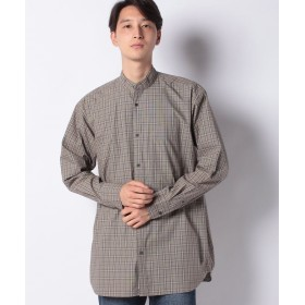 【40%OFF】 コエ ロングモノトーンチェックシャツ メンズ ハウンドトゥース M 【koe】 【セール開催中】