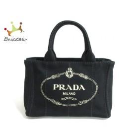 プラダ PRADA トートバッグ 美品 CANAPA 黒 キャンバス  値下げ 20190828