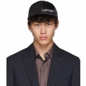 ランバン Lanvin メンズ キャップ 帽子 Black Logo Cap Black