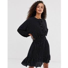 エイソス ASOS DESIGN レディース ワンピース ワンピース・ドレス mini dress with elasticated waist in mono spot Mono spot