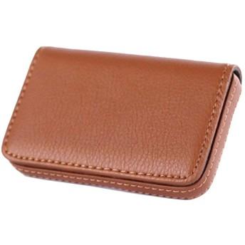 名刺入れ カードケース パスケース (ブラウン)