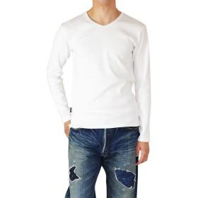 AVIREX アビレックス デイリーウエア 長袖 VネックTシャツ 6153480 XL/ホワイト