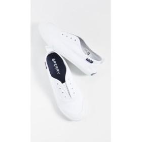 スペリー Sperry レディース スリッポン・フラット シューズ・靴 Sayel Clew Washed Canvas Sneakers White