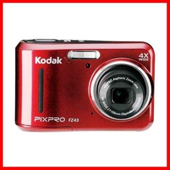 【単3電池駆動】コダック コンパクトデジタルカメラ Kodak PIXPRO FZ43RD (レッド)★