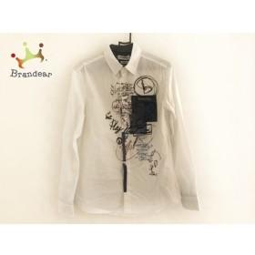 デシグアル Desigual 長袖シャツ サイズS メンズ 白×マルチ 刺繍 新着 20190824