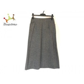 マーガレットハウエル MargaretHowell ロングスカート サイズ2 M レディース グレー×黒 新着 20190824