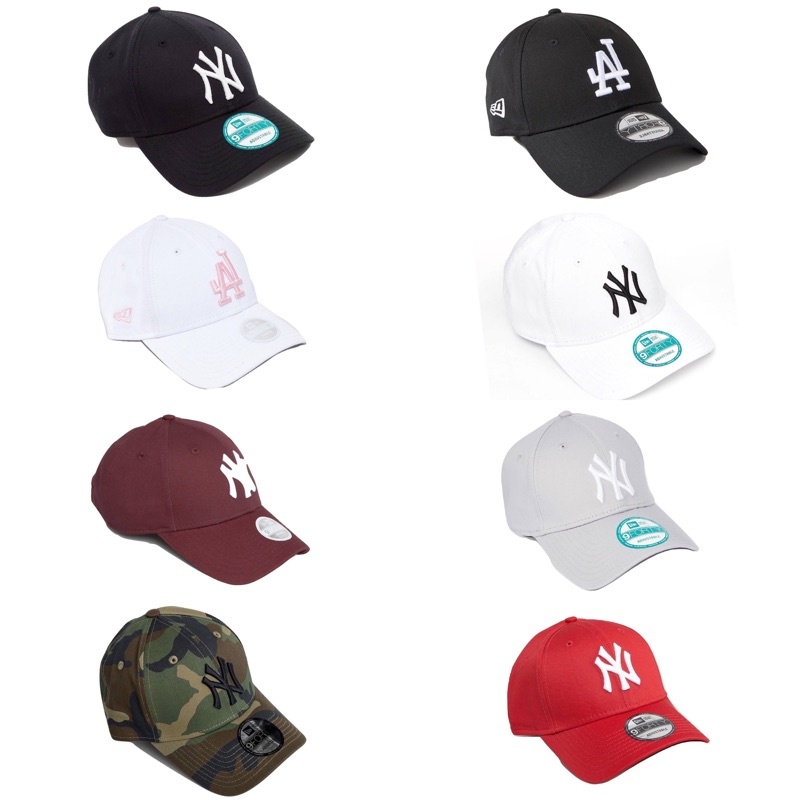 New Era LA NY 老帽 黑 深藍 白 粉 酒紅 灰 紫 迷彩 【Ting Store】