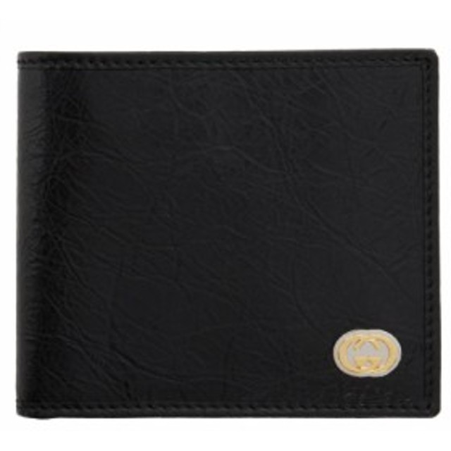 new arrival dbb24 81352 グッチ Gucci メンズ 財布 Black Interlocking G Bifold Wallet ...