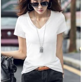 無地 Tシャツ レディース 韓国 オルチャン ファッション 夏服 レディース 夏新作 トップス オルチャン 韓国 風 レディース ファッション