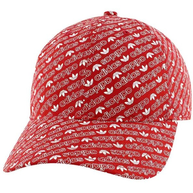 アディダス adidas Originals メンズ キャップ 帽子 washed relaxed strapback Collegiate Red/White Monogram
