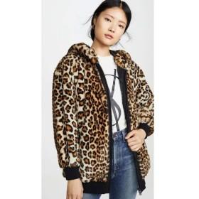 モスキーノ Boutique Moschino レディース ジャケット アウター Leopard Print Hooded Jacket Fantasy Print Beige