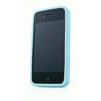 iPhone 4S/iPhone 4 共通 Alumor/Metal/Case/Light/Blue スマートフォンケース スマホケース [▲][G]