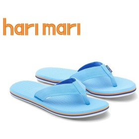 HARI MARI(ハリマリ) / 軽量 ビーチサンダル EVA素材 / DUNES - BABY BLUE - ORANGE x NAVY / HMG-DM5150 / メンズ