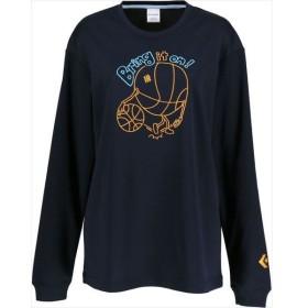 [CONVERSE]コンバース レディース プリント長袖Tシャツ (CB392304L)(2900) ネイビー[取寄商品]