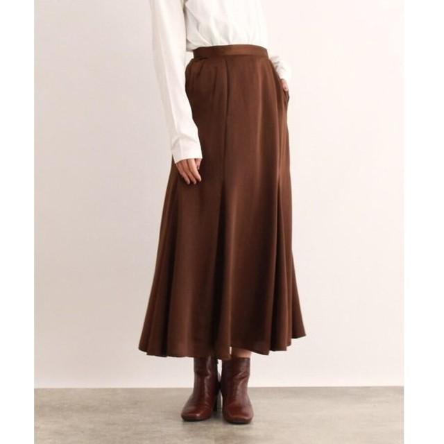 OZOC / オゾック [洗える]マーメイドサテン切替スカート