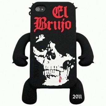 iPhone 4S/iPhone 4 共通 Sillicone/Skin/el/brujo/Black スマートフォンケース スマホケース [▲][G]