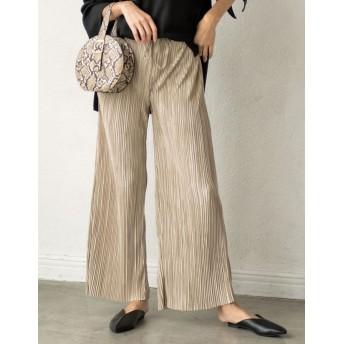 パンツ・ズボン全般 - Re: EDIT 人気商品がリバイバルで登場!秋のリラックスパンツ ランダムプリーツストレートリラックスパンツ パンツ/パンツ