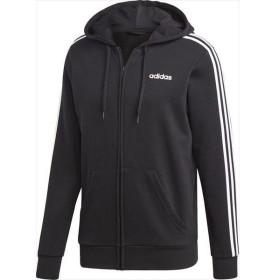 [adidas]アディダス M CORE 3ストライプス フルジップーパーカー (裏毛) (FSG91)(DQ3102) ブラック/ホワイト[取寄商品]