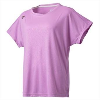 [DESCENTE]デサント レディース エンボス加工 半袖Tシャツ (DMWOJA57)(PK) ピンク[取寄商品]