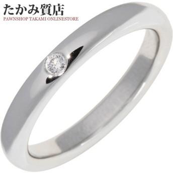 ティファニー 指輪 リング Pt950 ダイヤ1P 0.02ct エルサ・ペレッティ スタッキングバンドリング 8号