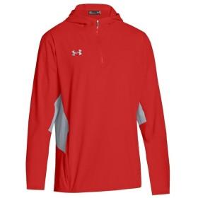 アンダーアーマー Under Armour メンズ ジャケット アウター team squad woven 1/4 zip jacket Red/Steel